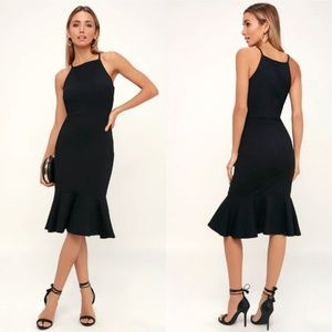 Lulu's This Could Be Love Bodycon Midi Dress